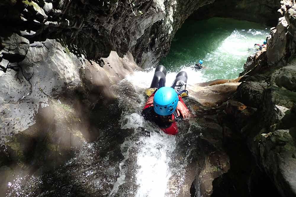 grand toboggan du canyon de montmin canyoning annecy