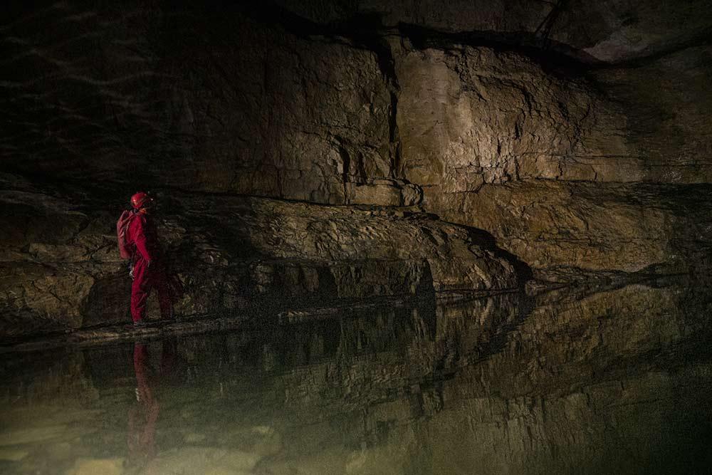 lac sous terrain grotte de la diau